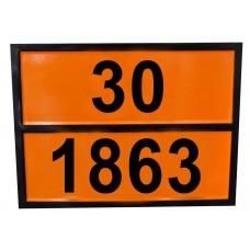 Табличка опасный груз 30-1863 (топливо авиационное)