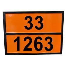 Табличка опасный груз 33-1263 (краска)