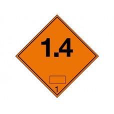 """Знак  """"Класс опасности 1.4"""" (Взрывчатые вещества)"""