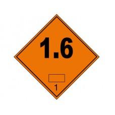 """Знак  """"Класс опасности 1.6"""" (Взрывчатые вещества)"""