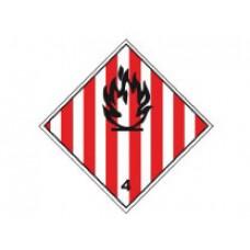 """Знак  """"Класс опасности 4.1"""" (Легковоспламеняющиеся вещества)"""