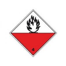 """Знак  """"Класс опасности 4.2"""" (Вещества, способные к самовозгоранию)"""