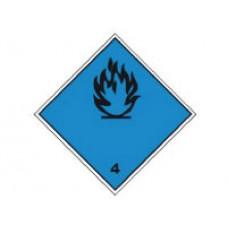 """Знак  """"Класс опасности 4.3"""" (Вещества, выделяющие легковоспламеняющиеся газы, в контакте с водой)"""
