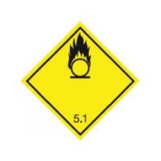 """Знак  """"Класс опасности 5.1"""" (Окисляющие вещества или органические пероксиды)"""