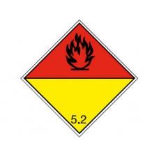 """Знак  """"Класс опасности 5.2"""" (Окисляющие вещества или органические пероксиды)"""