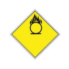 """Знак  """"Класс опасности 5"""" (Окисляющие вещества или органические пероксиды)"""
