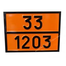 Табличка опасный груз  33-1203 (Бензин)