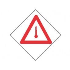 """Знак  """"Вещество, перевозимое при повышенной температуре"""""""